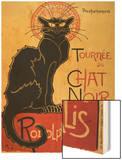 Tournee du Chat Noir, c.1896 Wood Print by Théophile Alexandre Steinlen