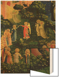 Detail of Heaven from the Last Judgement Wood Print by  Fra Angelico