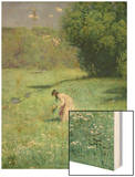 Woodland Meadow, 1876 Wood Print by Hans Thoma