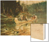 On the Flathead Wood Print by Charles Marion Russell