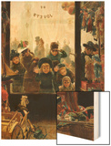 The Toyshop Window Wood Print by Timoleon Marie Lobrichon