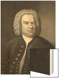 Portrait of Johann Sebastian Bach, German Composer (Engraving) Wood Print by Elias Gottleib Haussmann