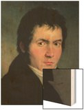 Ludwig Van Beethoven (1770-1827), 1804 Wood Print by Willibrord Joseph Mahler