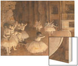 Ballet Rehearsal on the Stage, 1874 Posters by Degas Edgar