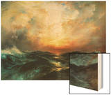 Seascape Wood Print by Thomas Moran