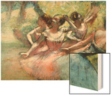Four Ballerinas on the Stage Prints by Degas Edgar