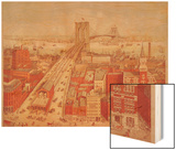 Brooklyn Bridge, circa 1883 Wood Print by R. Schwarz