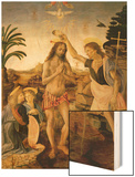 The Baptism of Christ by John the Baptist, C.1475 Wood Print