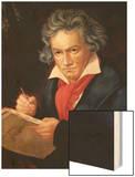 """Ludwig Van Beethoven (1770-1827) Composing His """"Missa Solemnis"""" Prints by Joseph Karl Stieler"""