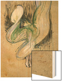 Study for Loie Fuller at the Folies Bergeres, 1893 Wood Print by Henri de Toulouse-Lautrec