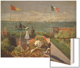 The Terrace at Sainte-Adresse, 1867 Wood Print by Monet Claude