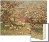 Appleblossom Wood Print by William Biscombe Gardner