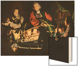 The Orrery, Exh. 1766 Wood Print by Joseph Wright Of Derby