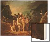 Daniel Boone Escorting Settlers Through the Cumberland Gap, 1851-52 Wood Print by George Caleb Bingham