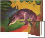Blue Fox, 1911 Wood Print by Franz Marc