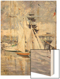 The Harbour, Deauville, Normandy, 1912 Posters by Paul Cesar Helleu
