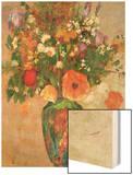 Vase De Fleurs Wood Print by Redon Odilon