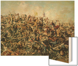 Custer's Last Stand, 25th June 1876 Wood Print by Edgar Samuel Paxson
