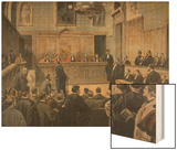 The Panama Trial, Illustration from 'Le Petit Journal: Supplement Illustre', 2nd January 1898 Wood Print by Fortune Louis Meaulle