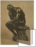 The Thinker (Le Penseur) Wood Print by Auguste Rodin