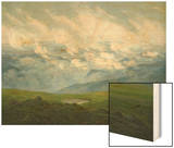 Drifting Clouds Wood Print by Caspar David Friedrich