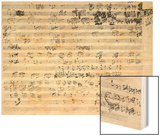 Autograph Score Sheet For the Trio Mi Bemol Opus 3 Wood Print by Ludwig Van Beethoven