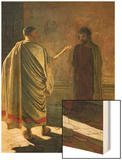 What is Truth (Christ and Pilate) 1890 Wood Print by Nikolai Nikolaevich. Ge