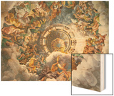 The Gods of Olympus, Trompe L'Oeil Ceiling from the Sala Dei Giganti, 1528 Wood Print by Giulio Romano