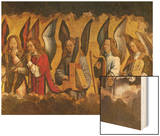 Angels Playing Musical Instruments, Right Hand Panel from a Triptych Wood Print by Hans Memling
