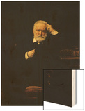 Portrait of Victor Hugo (1802-85) 1879 Wood Print by Leon Joseph Florentin Bonnat