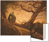 Two Men in the Consideration of the Moon; Zwei Manner in Betrachtung Des Mondes, C.1830 Posters by Caspar David Friedrich