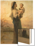 Madonna and Child Wood Print by Adolphe Jourdan