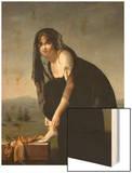 Etude de femme d'aprés nature, dit aussi : Portrait de madame Soustra Wood Print by Marie Denise Villers
