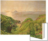 A View of Ailsa Craig and the Isle of Arran, 1860 Prints by William Bell Scott