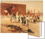 Moorish Procession Wood Print by Jean Joseph Benjamin Constant
