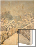 Snow at Louveciennes, 1878 Wood Print by Alfred Sisley