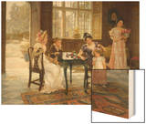 The Time of Roses, c.1901 Wood Print by Charles Haigh-Wood