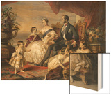 Queen Victoria and Prince Albert with Five of the Their Children, 1846 Print by Franz Xavier Winterhalter