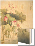 Lotuses and Bird Wood Print by Fangyu Meng