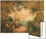 A Garden in Sorrento Wood Print by Pierre-Auguste Renoir