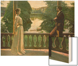 Nordic Summer Evening, 1899-1900 Wood Print by Sven Richard Bergh