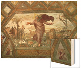 God Creating the Earth Wood Print by  Raphael