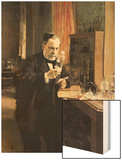 Louis Pasteur (1822-95) in His Laboratory, 1885 Wood Print by Albert Edelfelt