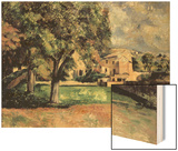 Trees in a Park, Jas de Bouffan, 1885-87 Wood Print by Paul Cézanne