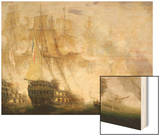 The Battle of Trafalgar, c.1841 Wood Print by John Christian Schetky