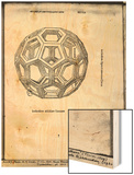 "Icosahedron, from ""De Divina Proportione"" by Luca Pacioli, Published 1509, Venice Wood Print by  Leonardo da Vinci"
