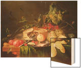 Still Life of Fruit Wood Print by Jan Davidsz. de Heem