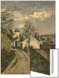Doctor Gachet's House at Auvers, circa 1873 Wood Sign by Cézanne Paul