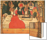 Ss Cosmas and Damian Graft the Leg of a Black Person Onto the Stump of Deacon Justinian Wood Print by Jaume Huguet