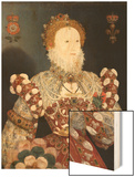 Queen Elizabeth I - the Pelican Portrait, C.1574 Wood Print by Nicholas Hilliard